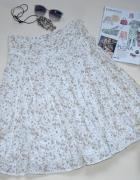 Spódnica OBJECT bawełna klosz floral print ażur S...