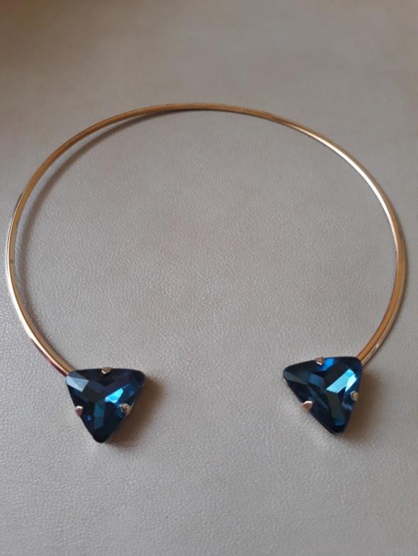 Obręcz naszyjnik z kryształami Sinsay...