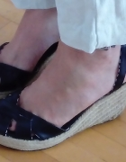 czarne sandały espadryle Morgan...