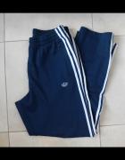 Adidas męskie dresy granatowe spodnie dresowe originals