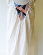 Sukienka Kremowa Oversize Letnia Numph XS 34 Haft...