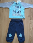 Nowe chłopięce niemowlęce dresy komplet bluza spodnie dresowe 68