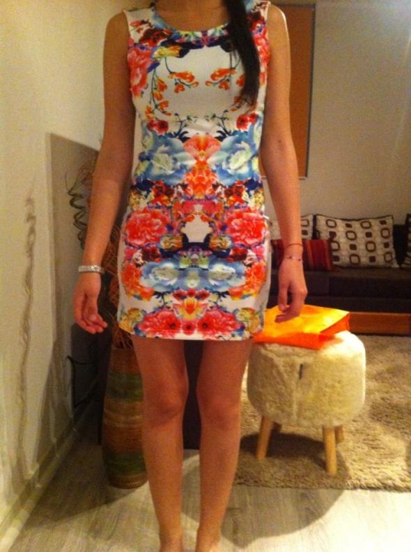 Suknie i sukienki H&M sukienka floral 36 s