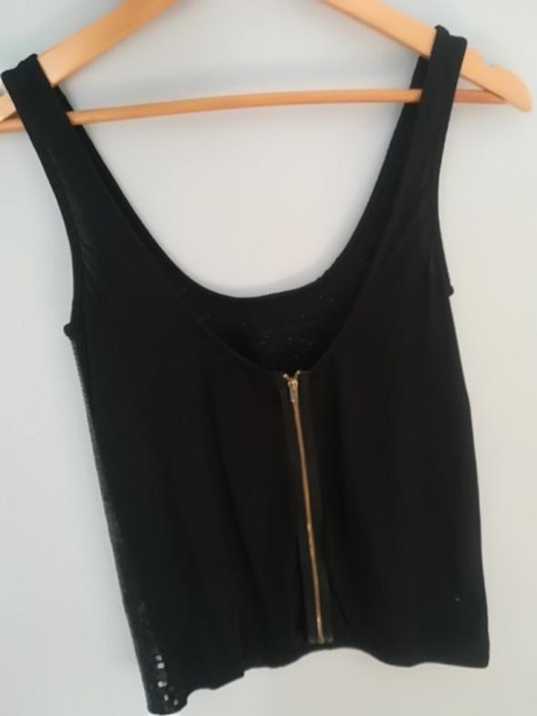 Cekinowa pull & bear s bluzka czarna imprezowa...