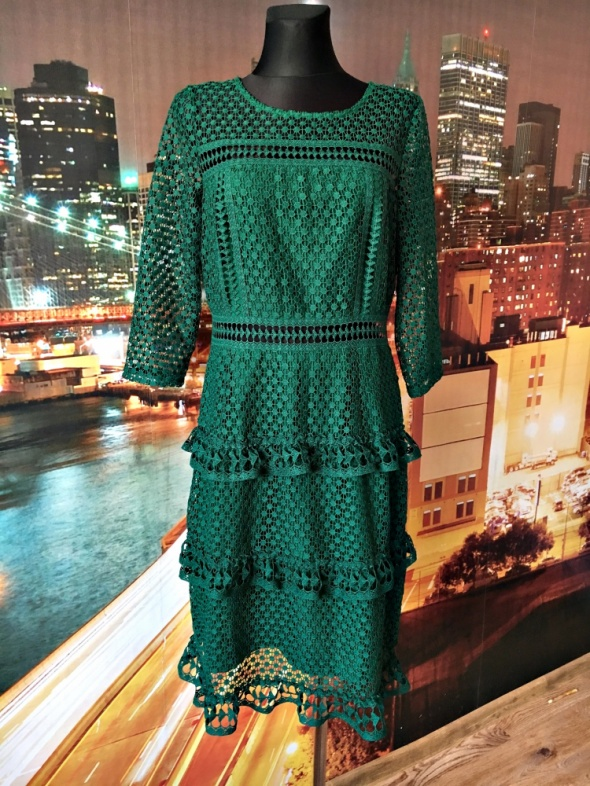8201c84831 Suknie i sukienki liquorish sukienka gipiura koronkowa zielona hit 40 L