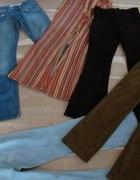 Spodnie jeans sztruks rozmiar S