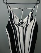 bluzka w czarno białe paski