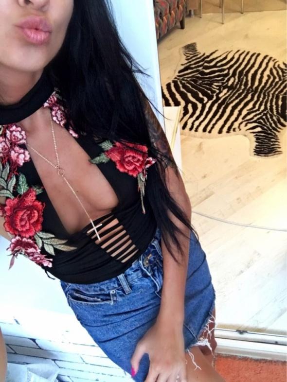 Bluzki Body floral haft GoŁe plecy 34 36