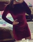 Sukienka burgund bordowa XS S...