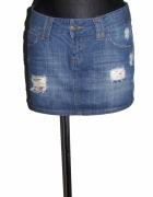 TALLY WEIJL jeansowa spódnica mini z dziurami r 38...