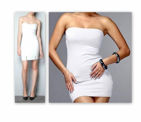 505ec3ab ZARA trf biała gorsetowa sukienka zip r 36 38 w Suknie i sukienki ...
