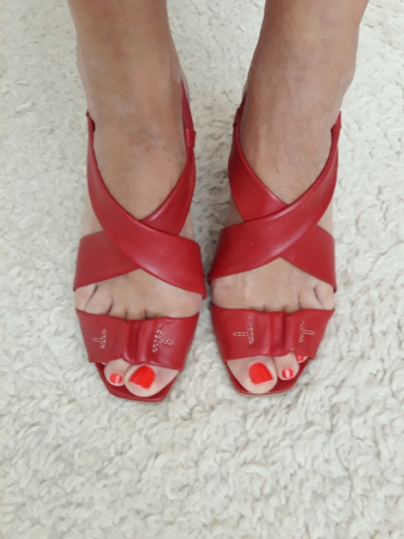 Sandałki Syrena skóra naturalna