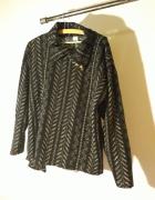 Czarno złota wzorzysta bluzka...