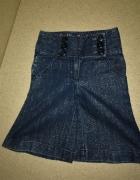 Next jeansowe błyszczące spodenki 104 cm 4 lata...