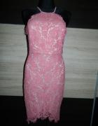 Gglamorous czarna sukienka gipiura RÓŻ roz 38...