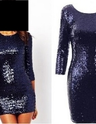 Glamorous efektowna sukienka CEKINY kobaltowa roz 40 42...