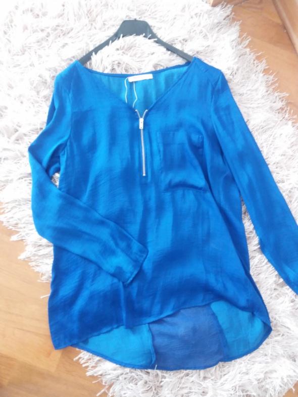 Kobaltowa koszula bershka