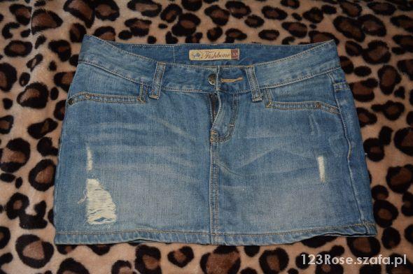 jeansowa mini 34 lub 36 przetarcia...