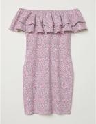 Sukienka H&M z odkrytymi ramionami...