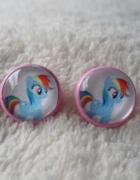 Kolczyki Rainbow Dash Little Pony wybór zapięcia