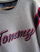 Tommy Hilfiger męski szary sweter L