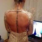 Sukienka złota cekiny cekinowa
