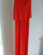 Długa czerwona sukienka maxi...