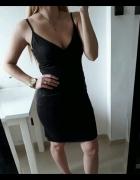 Lipsy sukienka dopasowana na ramiączkach czarny ze srebrem M