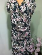 sukienka kopertowa w kwiaty 42