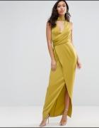 Asos sukienka maxi zakładki choker mega modna...