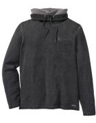 Szara bluza z golfem Slim Fit bawełna