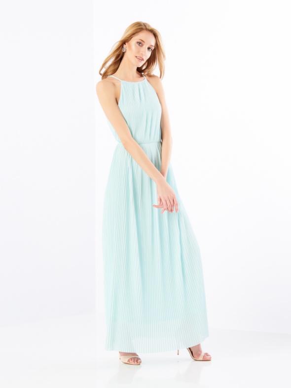 002a0f7fbe Suknie i sukienki Mohito niebieska miętowa długa sukienka Celebration XS 34