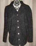 Nowy męski sweter kardigan na guziki melanżowy