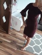 Sukienka koronka burgund xs Mohito