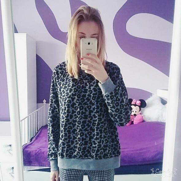 Nowa szara bluza z literkami pull&bear