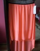 Nowa Spódnica neon letnia nowa zwiewna rozmiar XS S