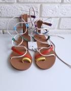 Nowe kolorowe sandałki 37