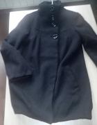 Ichi B Young czarny płaszcz wełna M