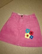 Next Różowa ołówkowa spódniczka z haftem 98 cm 3 lata...