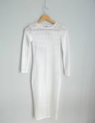 River Island biała siateczkowa sukienka midi...