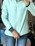Błękitna bluza polar cienka XL