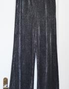 Nowe spodnie z szerokimi nogawkami brokatowe błyszczące kuloty ...