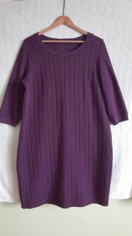 sukienka M&S 16 warkocze...
