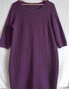 sukienka M&S 16 warkocze
