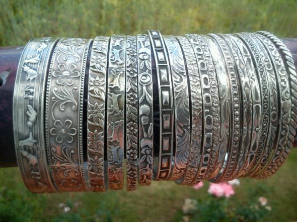 Stare srebrne kółka rytosztuka warmet imago...