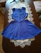 Chabrowa sukienka z wycięciami r S