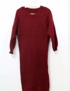 Wełniana sukienka Vintage handmade M