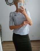 Bluzka w paski stradivarius