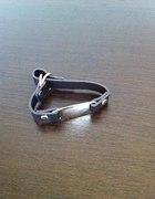 H&M bransoletka ciemny brąz
