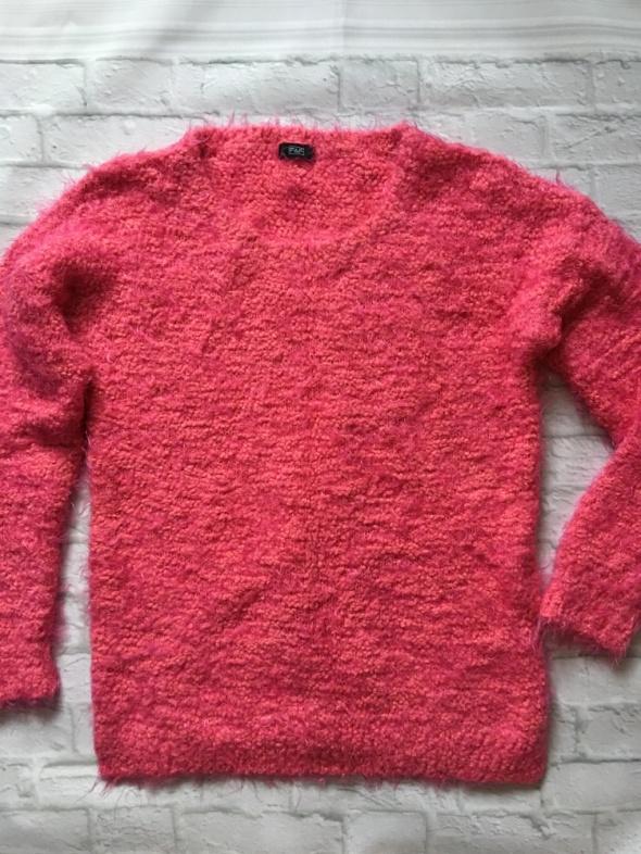 F&F różowo pomarańczowy sweterek L
